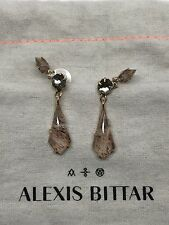 """NEW Alexis Bittar Gold Plated Moonstone Pyrite Doublet 2"""" Drop Earrings $225"""