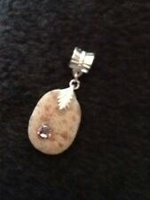 Sea Beach Surf Tumbled Shell Stone European Bead Charm Or Pendant