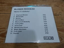 4 AD - BLONDE REDHED - MISERY IS A BUTTERFLY  !!!!!!!! ! RARE CD PROMO!!!!!!