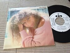 "BARBRA STREISAND SPANISH 7"" SINGLE SPAIN WHITE LABEL ONE SIDED CBS 84 LEFT IN"