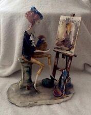ARTE ITALIANA A Mano Scultura Figura di Adriano COLOMBO-L' ARTISTA-RARE