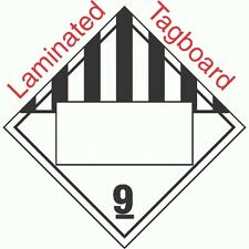 Blank Window Miscellaneous Dangerous Goods Class 9 Laminated Tagboa (Pack of 50)