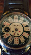 Longines Poker Card Wrist Watch conversion Pocket Watch with Trench Strap
