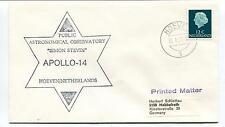 1971 Public Astronomical Observatory Simon Stevin Apollo 14 Hoeven Space Cover