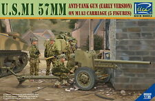 Riich RV35019 1/35 U.S.M1 57mm Anti-Tank Gun (Early) on M1A3 Carriage (5figures)