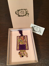 New! in Box KIRKS FOLLY Gold & Purple Lacquer HANGING FAIRY HOME BLESSING PLAQUE