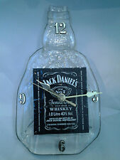 JACK DANIELS 1 LITRE ORIGINAL BOTTLE CLOCK, RECYCLED, MELTED AND FLATTENED
