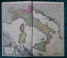 ITALIA ROMA CORSICA SARDEGNA SICILIA MALTA ORIG. INCISIONE MAPPA HOMANN 1720