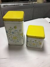 2- Tin Cheinco Housewares Canisters