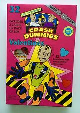 VALENTINES DAY CARDS SET 1993 TYCO CRASH TEST DUMMIES 32 SEALED IN BOX NEW!