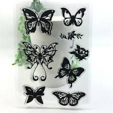 New Butterfly Silicone Rubber Clear Stamp Diary Christmas Card Seal Scrapbooking
