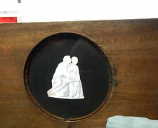 victorian magic lantern glass Slide coupleembraced mahogany mount