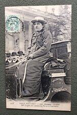 CPA. PARIS. 75 - Les FEMMES COCHER. 1907. Mme LUTGEN, ex-comtesse du Pin