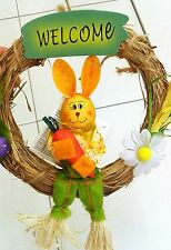 Welcome Easter Bunny Door Decoration Ostern Home Decor Happy Easter Gift Boy