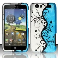 Design Rubberized Hard Case for Motorola Atrix HD MB886 - Blue Vine