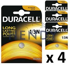 4 x Duracell 1 / 3N 3V BATTERIE AL LITIO, DL 1/3 N CR1 / 3N lunga vita 4 Pack