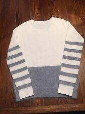 J. CREW WALLACE Gray Open Weave Women's Sweater Sz S