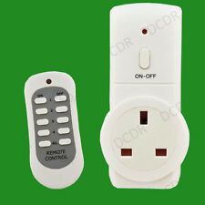 1x Wireless UK Plug-in Mains Socket With Remote Control Energy Saving Switch Set
