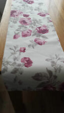 "NEW Table runner in Laura Ashley ROSES CASSIS linen blend fabric 52"" Fully lined"