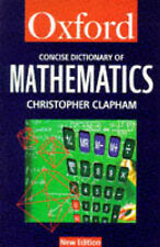 Very Good 0192800418 Paperback The Concise Oxford Dictionary of Mathematics (Oxf