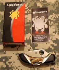 Spyderco Santa Fe Stoneworks C28P C28PSF MOP Black Onyx Dragonfly ONLY 25 MADE!!