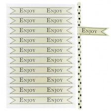 Miss Étoile Sticker - Flaggen für Strohhalme ENJOY grün 30tlg.
