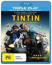The Adventures Of Tintin - Secret Of The Unicorn (Blu-ray, 2012, 1-Disc Set)