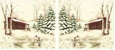 10 Inch HOLIDAY IN THE PINES QUILT / CRAFT BLOCKS Fabric Panel Moda Holly Taylor