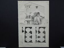French Architectural 1871 Croquis D'Architecture #42