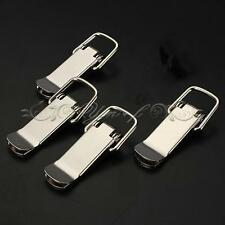 4X Case Spring Latch Boxe Stainless Suitcase Loaded Tone Toggle Catch Chest Lock