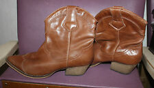 Boots bottines cuir ANDRE chelsea marron santiags camel 39 Rock Blog de Betty