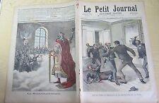 Le petit journal 1892 62 un fou à la préfecture de Paris