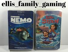 Lot Of 2 Disney VHS Video Tapes Finding Nemo - Lilo & And Stitch - Work Great