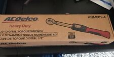 """ACDelco ARM601-4 1/2"""" Digital Torque Wrench (4-99 ft-lbs) New! W/case!"""