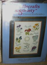 New Herb Spice Sampler Needlecrafts Society Embroidery Complete Sewing Kit 11x14