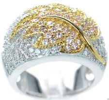 925 Sterling Silver Joseph Esposito CZ Leaf Design Ring Size - 5