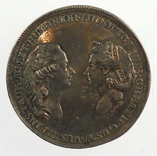GUSTAVUS III AND LOUISA ULRIKA OF SWEDEN By Fehrman. Silver
