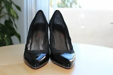 Authentic Brand New Lanvin Patent Leather Pointed-Toe Pumps