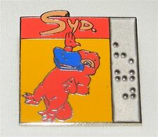 SYDNEY 2000 SUMMER OLYMPIC GAMES Mascot Syd Braille PIN BADGE COLLECTIBLE!
