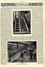 """Ing.Rodeck erfindet die Rolltreppe """"Klimax"""" Original-Bild-Report von 1903"""