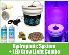 Hydroponic System LED Combo - Complete Grow System - 1 Site DWC Hydroponic Kit