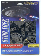 Metal Earth Star Trek ENTERPRISE COLLECTION 2 3D Puzzles MIcro Model