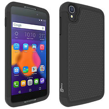 "For Alcatel One Touch Idol 3 (4.7"") Black Case Protective Shock Absorbent Cover"