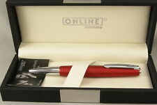 Online Germany Business Line Red Cisele & Chrome Ballpoint Pen - New