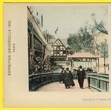 cpa CARTE PHOTO STEREO PARIS Exposition Universelle 1900 PALAIS du DANEMARK