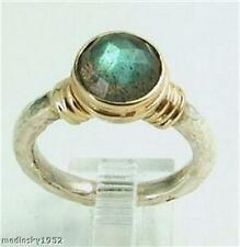 Hadar Designers 9k yellow Gold Sterling Silver Labradorite Ring any size (I r104
