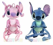 "Disney Lilo and Stitch -  Angel & Stitch 16"" Soft  2in1 Plush Backpack 2pc Set"