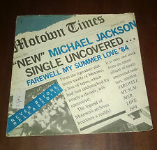 "Michael Jackson 45 Giri "" FAREWELL MY SUMMER LOVE-CALL ON ME "" Motown"