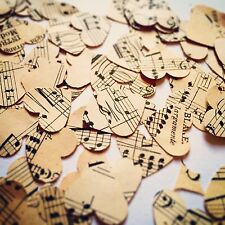 Vintage Heart Music Sheet Confetti - 500 Rustic Table Decorations