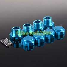 4PCS RC 1:8 Car Aluminum 17mm Rim Wheel Hex Mount Hub Nuts Cover Pin 80121 Blue